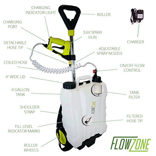 Flowzone 4 Gal Multi Use 3 6v Battery Powered Backpack Or