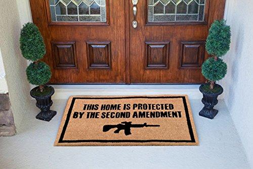 Freedom-Company-Second-Amendment-Doormat-100-All-Natural-Fibers-Coir-Eco-friendly-0