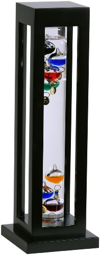 GW-Schleidt-YG824-B-Galileo-Thermometer-Square-Black-Finish-Multicolored-0