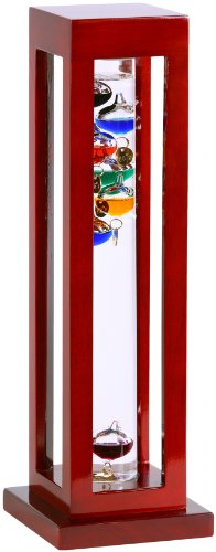 GW-Schleidt-YG824-C-Galileo-Thermometer-Square-Cherry-Finish-Multicolored-0