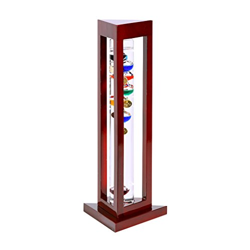 GW-Schleidt-YG924-C-Galileo-Thermometer-Triangle-Cherry-Finish-Multicolored-0
