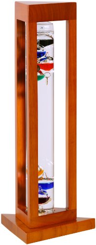 GW-Schleidt-YG924-N-Galileo-Thermometer-Triangle-Natural-Finish-Multicolored-0