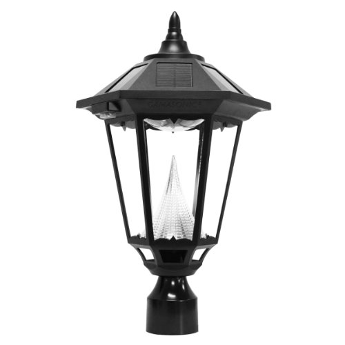 Gama-Sonic-Windsor-Solar-Outdoor-LED-Light-Fixture-3-Inch-Fitter-for-Post-Mount-Black-Finish-GS-99F-0