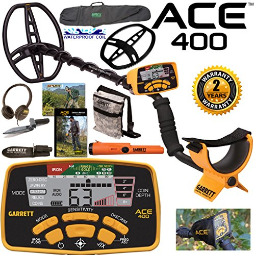 Garrett-ACE-400-Metal-Detector-with-DD-Waterproof-Coil-and-Premium-Accessories-0