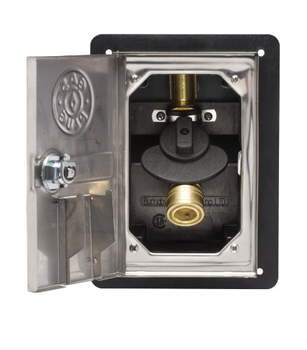 Gas plug gr ss recessed outlet box with