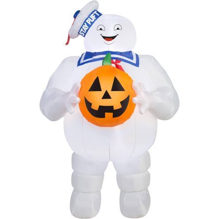 Gemmy-Airblown-Inflatable-5-X-3-Ghostbusters-Stay-Puft-with-Pumpkin-Halloween-Decoration-0