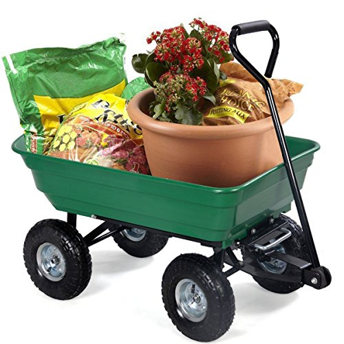 Giantex-650lb-Garden-Dump-Cart-Dumper-Wagon-Carrier-Wheel-Barrow-Air-Tires-Heavy-Duty-0-0