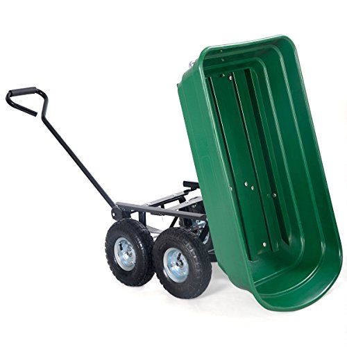 Giantex-650lb-Garden-Dump-Cart-Dumper-Wagon-Carrier-Wheel-Barrow-Air-Tires-Heavy-Duty-0-1