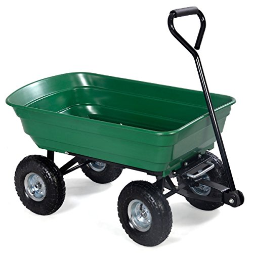 Giantex-650lb-Garden-Dump-Cart-Dumper-Wagon-Carrier-Wheel-Barrow-Air-Tires-Heavy-Duty-0