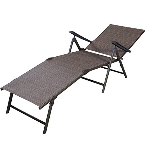 Giantex-Adjustable-Pool-Chaise-Lounge-Chair-Recliner-Outdoor-Patio-Furniture-Textilene-0