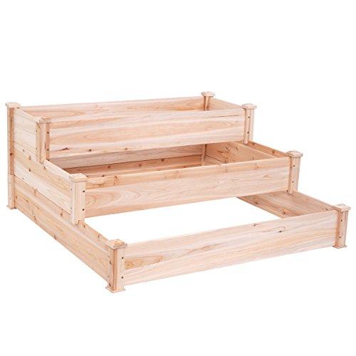 Giantex-Wooden-Raised-Vegetable-Garden-Bed-Elevated-Planter-Kit-Grow-Gardening-Vegetable-0