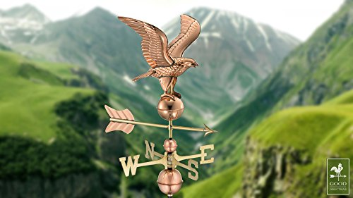 Good-Directions-1776P-American-Eagle-Weathervane-Polished-Copper-0-0
