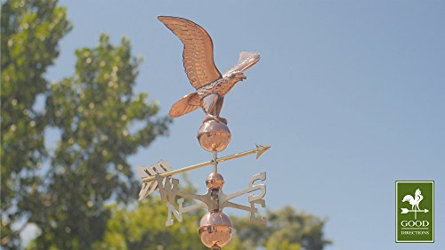 Good-Directions-1776P-American-Eagle-Weathervane-Polished-Copper-0-1
