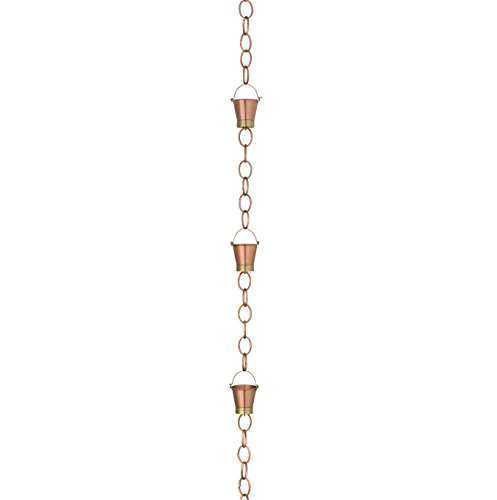 Good-Directions-480P-8-Pails-Rain-Chain-8-12-Brushed-Copper-0