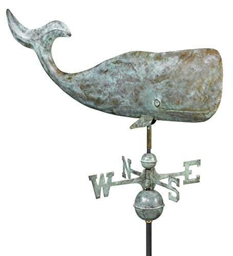 Good-Directions-505V1-37-Inch-Whale-Weathervane-Blue-Verde-Copper-0