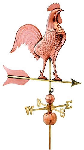 Good-Directions-616P-Barn-Rooster-Estate-Weathervane-Polished-Copper-0