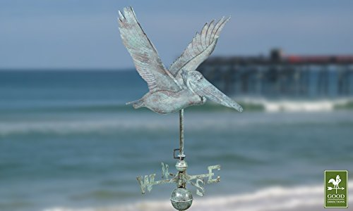 Good-Directions-9509V1-Pelican-Weathervane-Blue-Verde-Copper-0-0