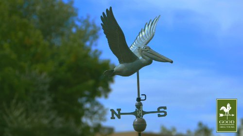 Good-Directions-9509V1-Pelican-Weathervane-Blue-Verde-Copper-0-1
