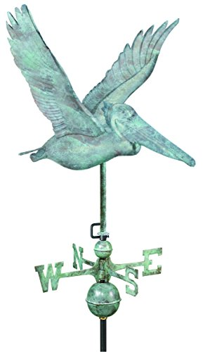 Good-Directions-9509V1-Pelican-Weathervane-Blue-Verde-Copper-0