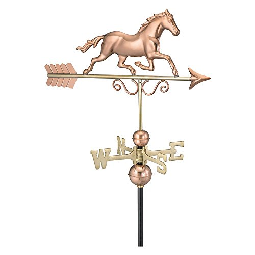 Good-Directions-Galloping-Horse-Weathervane-Polished-Copper-0