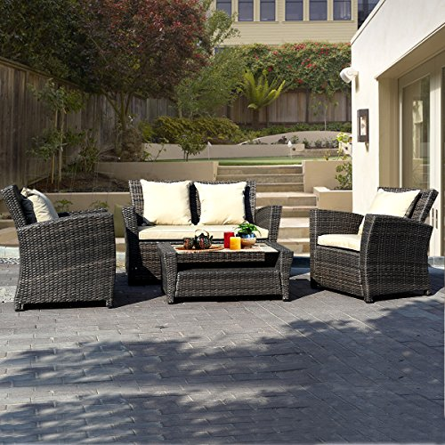 Goplus-4-PCS-Brown-Wicker-Cushioned-Rattan-Patio-Set-Garden-Lawn-Sofa-Furniture-Seat-0-0