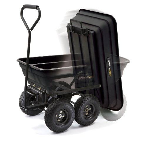 Gorilla-Carts-GOR200B-Poly-Garden-Dump-Cart-with-Steel-Frame-and-10-Inch-Pneumatic-Tires-0-0