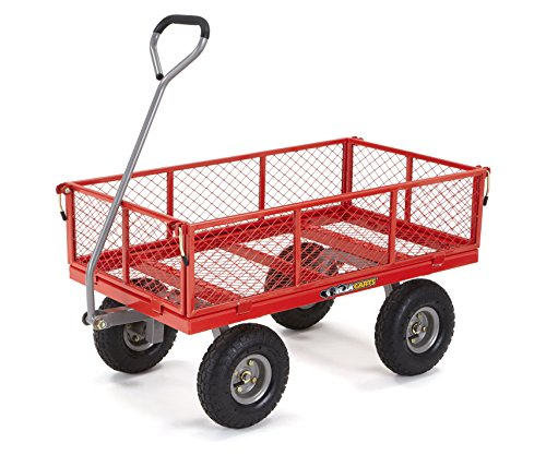Gorilla-Carts-Steel-Utility-Cart-with-Removable-Sides-with-a-Capacity-of-800-lb-Red-0