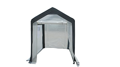Greenhouse-Spring-Gardener-Peak-Roof-Walk-In-Portable-Garden-Hot-House-Fully-Enclosed-Screend-Windows-for-Ventilation-Zippered-Door-5W-x-6L-x-66H-Small-Hobby-Greenhouse-for-decks-patios-porches-backya-0