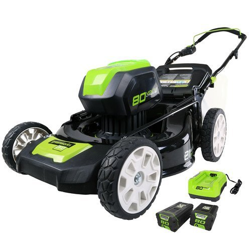 Greenworks-2500402-80V-Cordless-Lithium-Ion-21-in-3-in-1-Lawn-Mower-Kit-0