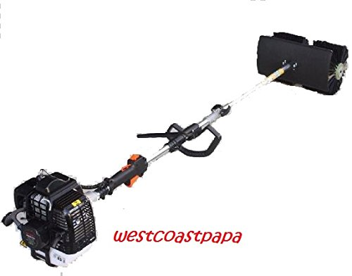 HAND-HELD-WALK-BEHIND-SWEEPER-BROOM-CONCRETE-DRIVEWAY-CLEANING-52cc-GAS-POWER-0