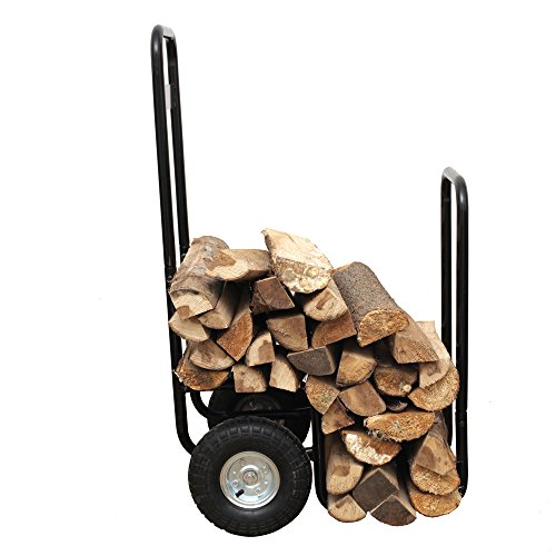 HIO-Haul-It-Wood-Mover-Rolling-Firewood-Cart-Log-Rack-On-Wheels-Black-0