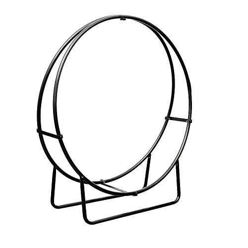 HIO-Large-Heavy-Duty-Firewood-Racks-40-Inch-Round-Steel-Holder-Log-Rack-Hoop-0