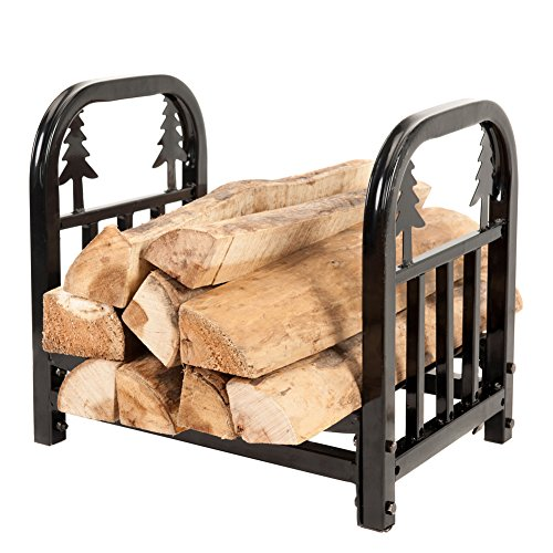 HIO-Small-Decorative-IndoorOutdoor-Firewood-Racks-18-Inch-Fireside-Log-Rack-0