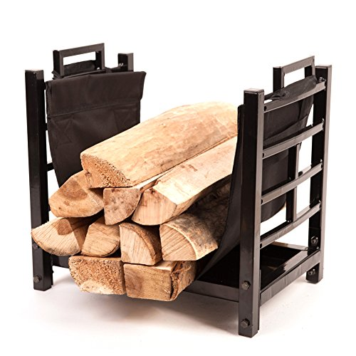 HIO-Small-Firewood-Racks-18-Inch-Fireplace-Log-Holder-With-Canvas-Carrier-0