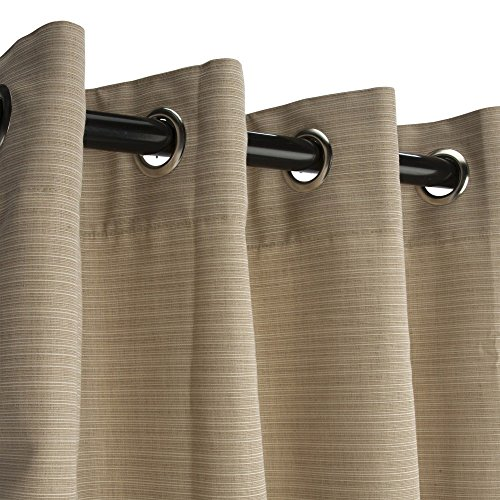 Hatteras-Hammocks-Sunbrella-Outdoor-Curtain-with-Nickel-Plated-Grommets-in-Dupione-Sand-50-in-x-84-in-0