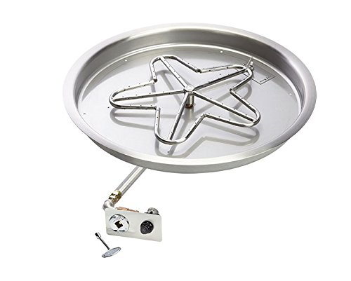 Hearth-Products-Controls-Push-Button-Spark-Ignition-Natural-Gas-Fire-Pit-Kit-Round-Bowl-Pan-0