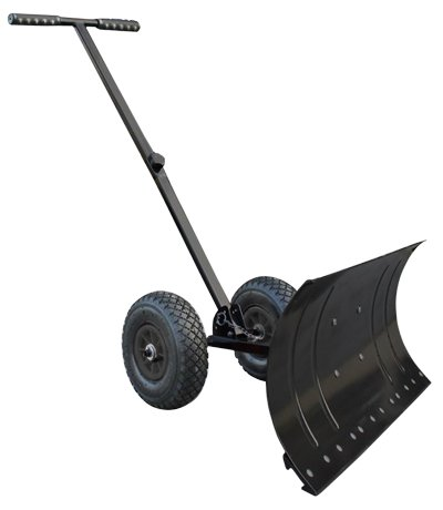Heavy-Duty-Rolling-Snow-Shovel-with-Rotatable-Steel-Blade-5-Way-Adjustable-Handle-and-Extra-Large-Rubber-Wheels-for-Easy-Rolling-0