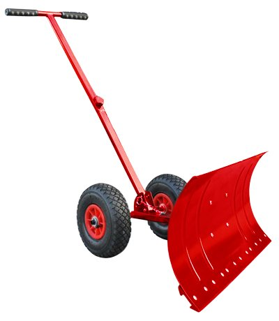 Heavy-Duty-Rolling-Snow-Shovel-with-Rotatable-Steel-Blade-5-Way-Adjustable-Handle-and-Extra-Large-Rubber-Wheels-for-Easy-Rolling-Color-Red-0