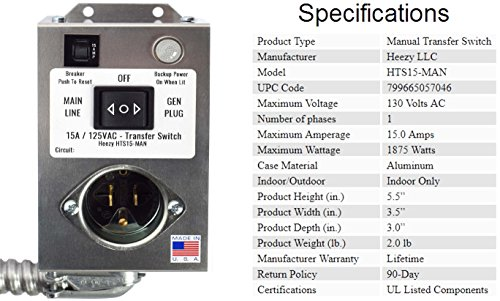 Heezy-HTS15-MAN-Generator-Transfer-Switch-Powers-Gas-Furnace-Boiler-or-Pumps-up-to-1875-Watts-15-Amp-One-Circuit-0-1