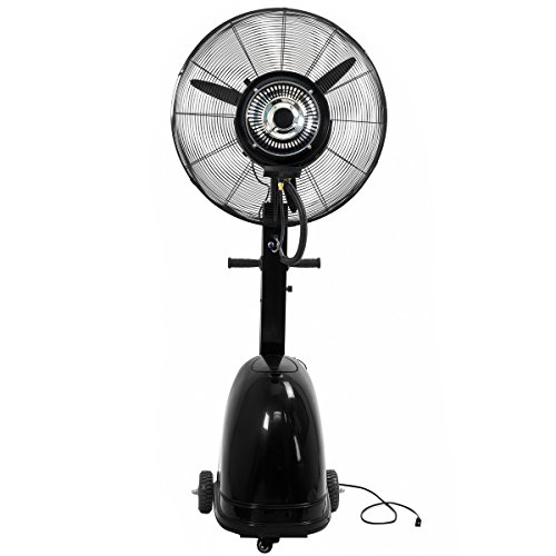 High-Power-Misting-Fan-Metal-26-Cooling-Warehouse-Indoor-Outdoor-w-7-Gal-Tank-0