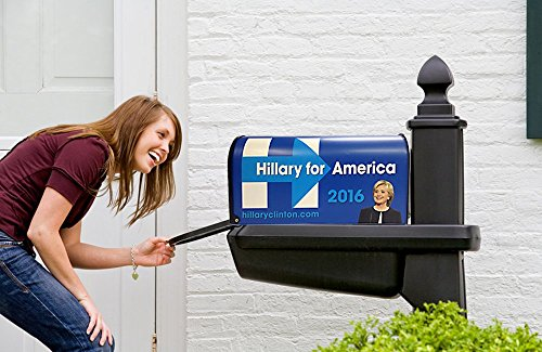 Hillary-Clinton-For-President-Mailbox-with-Flag-Made-in-America-Steel-Mailbox-0