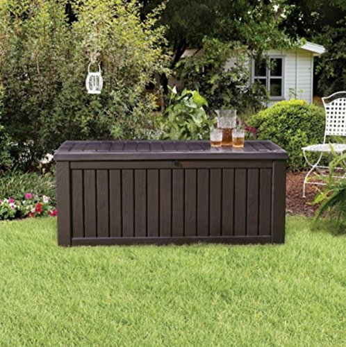 Home Storage Solutions Resin Wicker Deck Box Patio