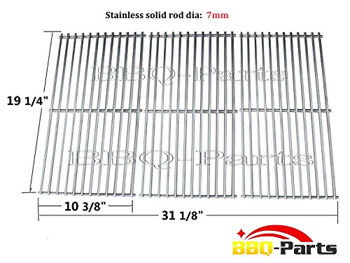 Hongso-SCI1S3-Universal-BBQ-Stainless-Steel-Wire-Cooking-Grid-Replacement-for-Select-Gas-Grill-Models-by-Brinkmann-Charmglow-Costco-Jenn-Air-Members-Nexgrill-Perfect-Flame-Sams-Club-Gas-Grill-and-Othe-0