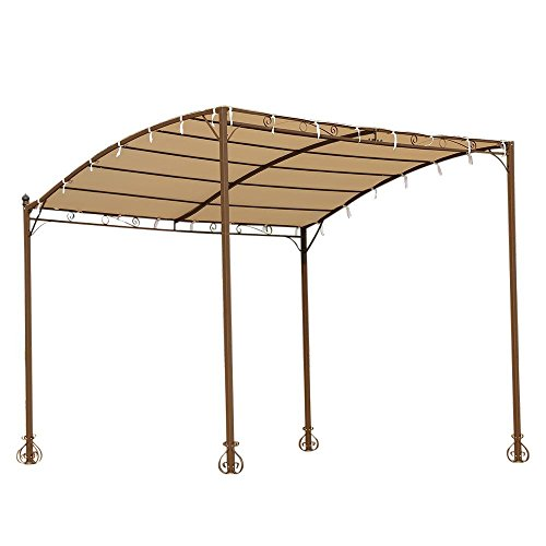 Ikayaa Metal Patio Garden Outdoor Gazebo Canopy Sun