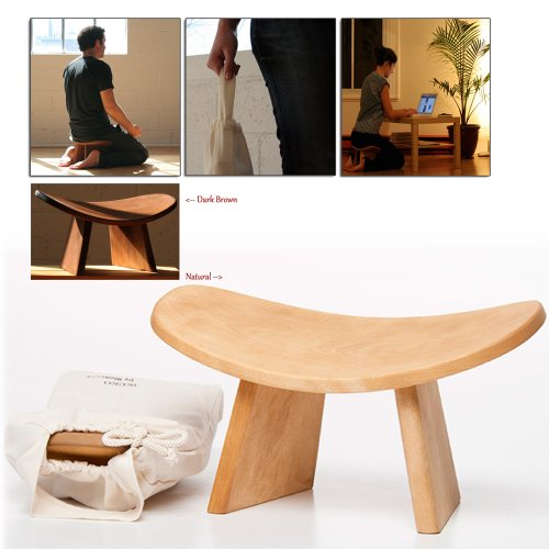 Ikuko Wooden Ergonomic Meditation Bench Farm Amp Garden