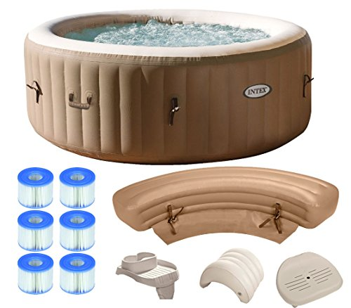 intex pure spa 4 person inflatable portable hot tub ultimate bundle package farm garden. Black Bedroom Furniture Sets. Home Design Ideas