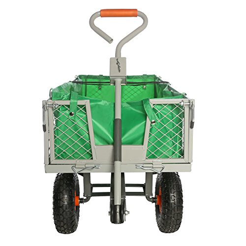 Ivation Garden Cart – Steel Mesh Convertible Flatbed Utility Wagon ...