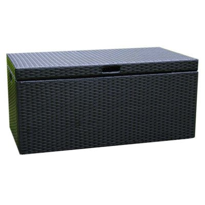 Suncast Elements Outdoor 40 Inch Wide Cabinet And Wicker