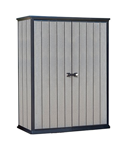 Keter-228430-High-Store-Vertical-Outdoor-Resin-Storage-Shed-0