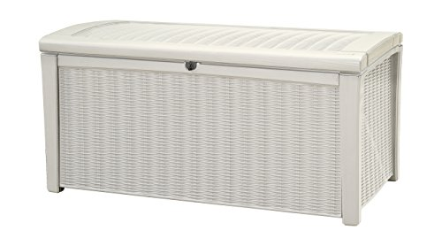 Keter-Borneo-Plastic-Deck-Storage-Container-Box-Outdoor-Patio-Garden-Furniture-110-Gal-White-0